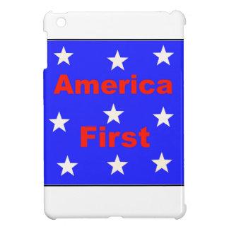 """Rotes, weißes und blaues """"Amerika zuerst"""" entwirft iPad Mini Hülle"""
