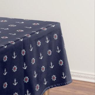 Rotes weißes und blaues Anker-Muster Tischdecke