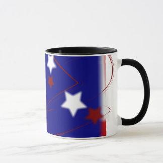 Rotes weißes und blaues patriotisches tasse