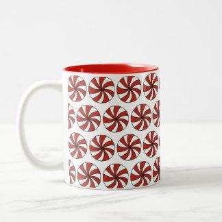 Rotes weißes zweifarbige tasse