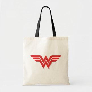 Rotes Wunder-Frauen-Logo Budget Stoffbeutel