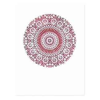 rotes Wurzel chakra Kreismosaik Postkarte