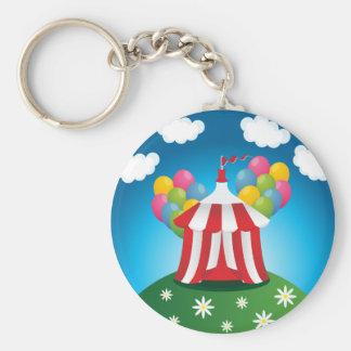 Rotes Zirkus-Zelt Keychain Schlüsselanhänger