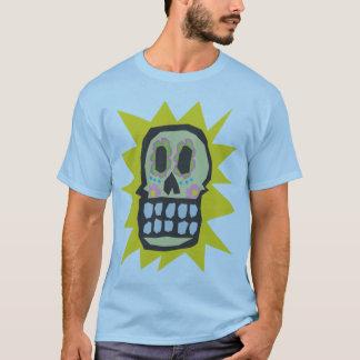 Rotglühen-Tag des toten Halloween-Schädels T-Shirt