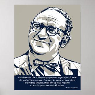 Rothbard Freiheit Poster