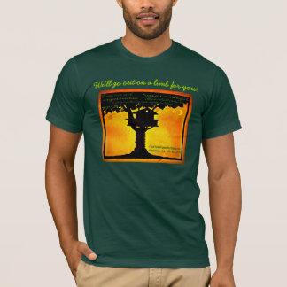 Rotholz-Tempel-Baumhaus T-Shirt