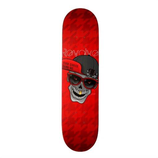 Rotieren Sie (Ihr cooleres als ich) Rot Personalisierte Skateboarddecks