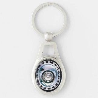 Rotierendes ovales Metall Keychain Schlüsselanhänger