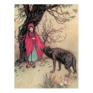 Rotkäppchen Postkarte