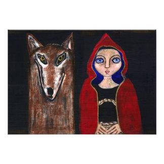 Rotkäppchen und der Wolf Fotodruck