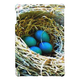 Rotkehlchen-Eier in Nest-Vogel-blaues Foto Ipad iPad Mini Hülle