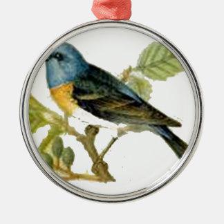 Rotkehlchen Silbernes Ornament