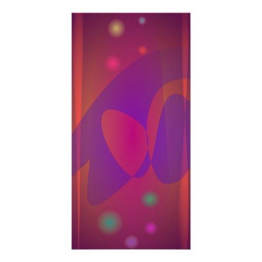 Rötlich braune einfache abstrakte Kunst Fotokarte