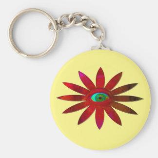 Rötliche Augen-Blume Schlüsselanhänger