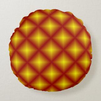 Rötlicher Goldstern geometrisch Rundes Kissen