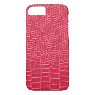Rötlicher rosa Snakeskin Entwurf, Apple iPhone 7 iPhone 8/7 Hülle