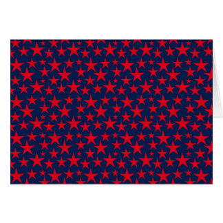 Rotsterne auf blauer Grußkarte