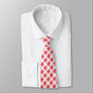 Rotsterne auf Weiß Krawatten