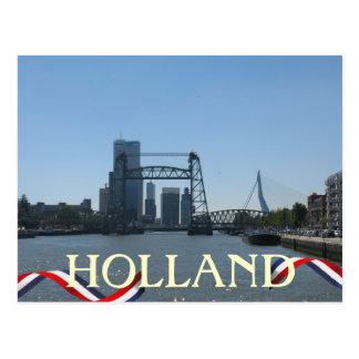 Rotterdam überbrückt Holland-Postkarte Postkarte