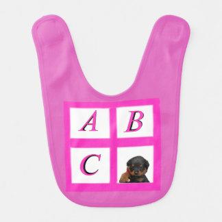 Rottie Alphabetblöcke Babylätzchen