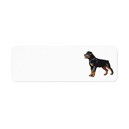 Rottweiler Adressen-Etikett Rücksende Aufkleber