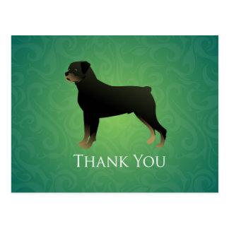 Rottweiler danken Ihnen zu entwerfen Postkarte
