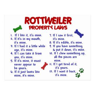 ROTTWEILER Eigentums-Gesetze 2 Postkarte