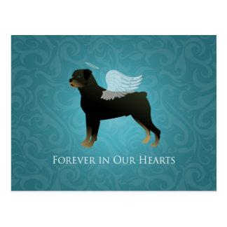 Rottweiler Engel - Haustier-Erinnerungsentwurf Postkarte