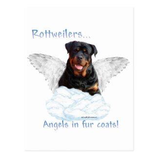 Rottweiler Engel Postkarte
