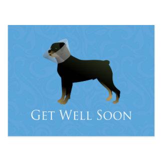 Rottweiler erhalten Brunnen-bald Entwurf Postkarte