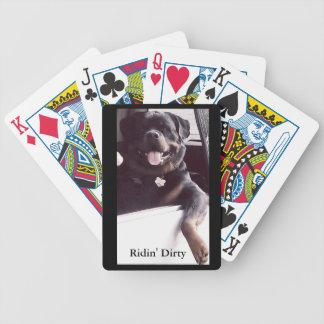 """Rottweiler Fahrrad-Poker-Karten """"Ridin schmutzig """" Bicycle Spielkarten"""