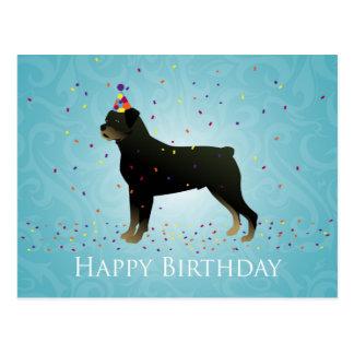 Rottweiler Geburtstags-Entwurf Postkarte