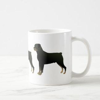 Rottweiler grundlegende kaffeetasse