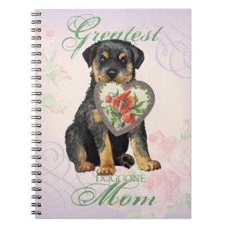 Rottweiler Herz-Mamma Spiral Notizblock