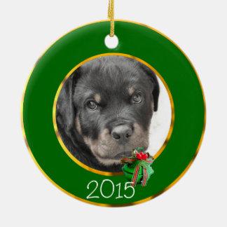 Rottweiler Hund Keramik Ornament