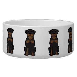 Rottweiler HundeCartoon Napf