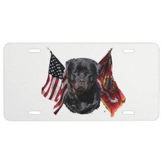Rottweiler Lizenz-Teller US Nummernschild