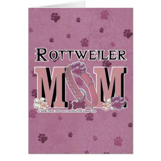 Rottweiler MAMMA Karte