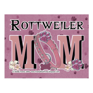 Rottweiler MAMMA Postkarte