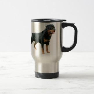 Rottweiler Reise-Tasse Edelstahl Thermotasse