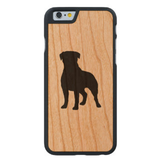 Rottweiler Silhouette Carved® iPhone 6 Hülle Kirsche