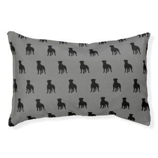 Rottweiler Silhouette-Muster Haustierbett