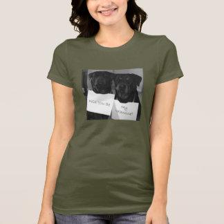 Rottweiler Valentinsgruß T-Shirt