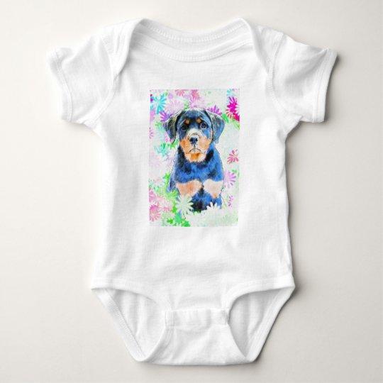 Rottweiler Welpe Baby Strampler