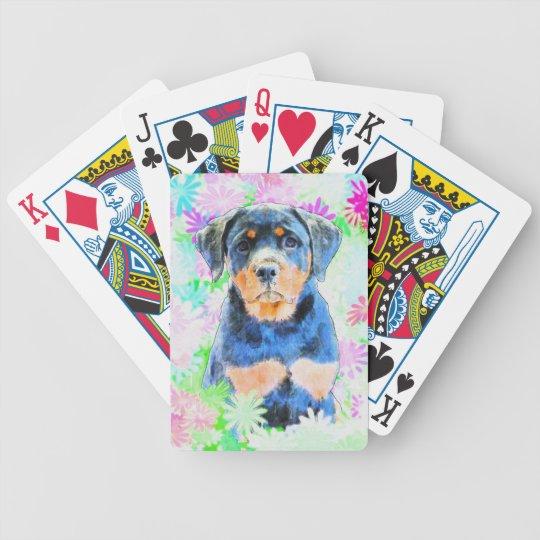 Rottweiler Welpe Bicycle Spielkarten