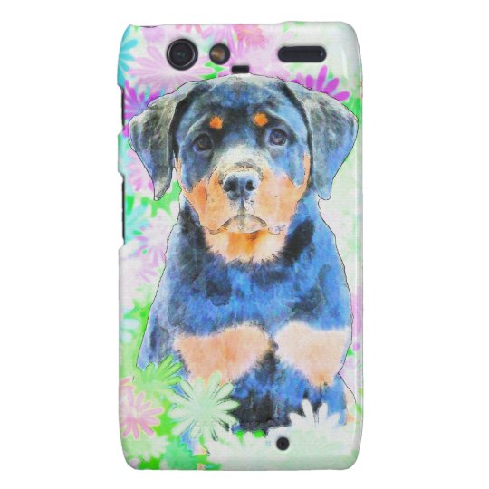 Rottweiler Welpe Droid RAZR Cover