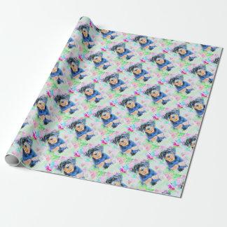 Rottweiler Welpe Einpackpapier