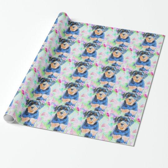 Rottweiler Welpe Geschenkpapier