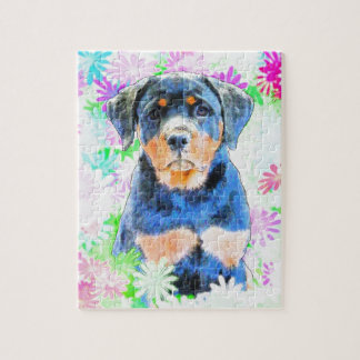 Rottweiler Welpe Puzzle