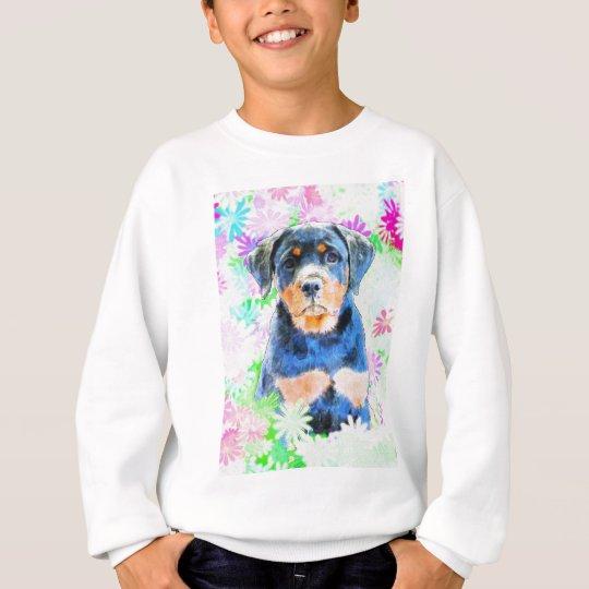 Rottweiler Welpe Sweatshirt